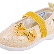 131070-11 золотой туфли ясельно-малодетские текстиль Р-р 26 фото