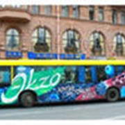 Реклама на транспорте различных видов фото