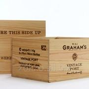 Ящик для вина на 8 бутылок с перегородками фото
