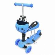 Самокат Scooter Mini (Божья-коровка), синий фото
