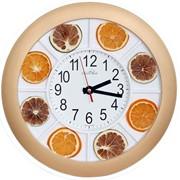Часы настенные в пластмассовом корпусе с декоративным наполнением фото