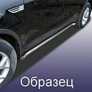 Пороги Suzuki SX4 2013–наст. время (с гибами черные 42 мм) фото