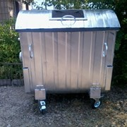 Мусорный контейнер 1,1 м3 оцинкованый для раздельн фото