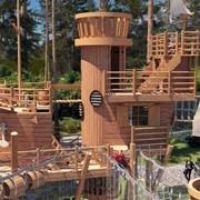 Веревочный парк. фото