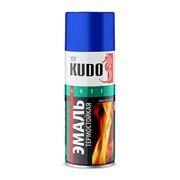 КУДО KU-5002 Эмаль аэрозольная термостойкая черная (0,52л) фото