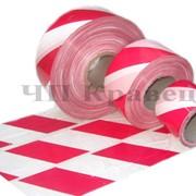 Лента оградительная сигнальная красно-белая фото