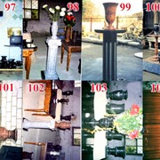 Гранитные вазы, столы фото
