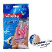 Перчатки Vileda для деликатных работ, размер S фото