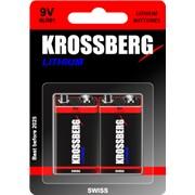 Литиевые батарейки Krossberg Lithium - 9V size фото