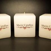 Свечи с нанесением изображения (логотип, фотография и т.д.) фото