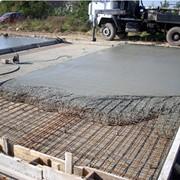 Высококачественный бетон для фундамента. фото