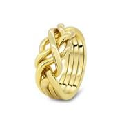 Кольцо головоломка из желтого золота от Wickerring фото
