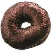 Валик d8см круглый из искусственных волос коричневый фото