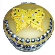 Шкатулка с бабочкой 7,5х6см фото
