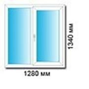 Пластиковое двухстворчатое окно в кирпичный дом (хрущевка). фото