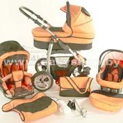 Коляска детская модульная 2/3 в 1 Bogus Dino Orange фото