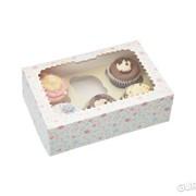 Коробки картонные для 6 кексов квадратные Sweetly Does It Kitchen Craft 2шт (102775) фото
