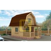 Каркасный дом Проект №1 4х6 с террасой фото