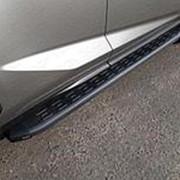 Пороги Lexus NX 300/300h/200/200t 2017-н.в. (алюм. с пласт. накладкой/карбон черные фото
