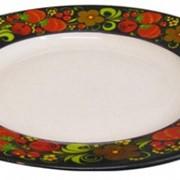 Тарелка хохломская десертная из фарфора фото