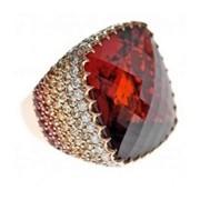 Мужской перстень Безумство красок с бриллиантами ZD-0002 фото