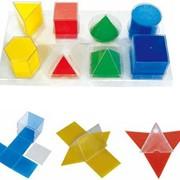 Набір прозорих геометричних фігур з розгорткою фото