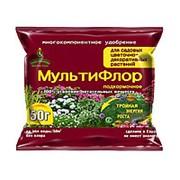 Удобрение МультиФлор подкормочное для садовых цветочно-декоративных растений 50гр фото
