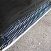 Накладки на пороги Lexus LX 570 2007-наст.время/Lexus LX 450d 2015-наст.время (лист на штатные пороги) фото