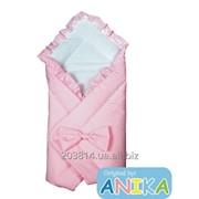 Конверт-одеяльце на выписку с бантом ( розовый ) Anikababy фото