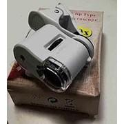 Лупа на телефон микроскоп 60х кратная фото