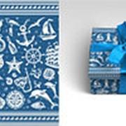 """Упаковочная бумага Миленд """"Морская"""", 10 листов в рулоне, 70 х 100 см., 90 г/м2, 10-05-0057 фото"""