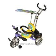 Велосипед М 1688 WP Eva Foam три колеса фиолетово-желтый фото
