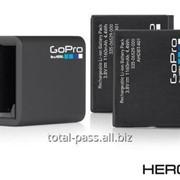 Аренда: Комплект аккумуляторов 2х для GoPro HERO 4 + зарядка фото