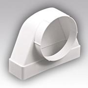 Соединитель 90° прямоугольного воздуховода 55х110 с круглым D100 511СК10КП фото