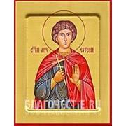 Храм Покрова Богородицы Евгений, святой мученик, икона на сусальном золоте (дерево 2 см с ковчегом) Высота иконы 10 см фото