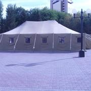 Палатки на деревянных стойках от 4-х до 40-а местных фото