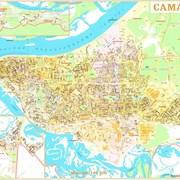 Карта Самара настенная 150х200 см фото