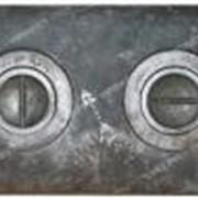Плита 2-х комфор. земляная чугунная 410мм*710мм №100955 фото