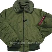 Куртка зимняя - цвет хаки фото