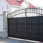 Ворота въездные распашные фото