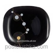 Тарелка Luminarc десертная sequins black/190x215 мм артикул e8095 фото
