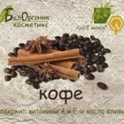 Мыло-скраб твердое с кофе и оливковым маслом, 100 гр фото