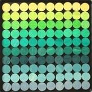 Grimms Мозаика магнитная «Цветные круги 2» (оттенки зеленый-желтый) арт. RN17876 фото