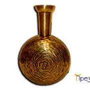 Круглая ваза из латуни в восточном стиле фото