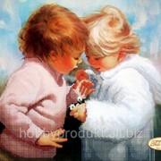 """Рисунок на ткани для вышивания бисером """"Первые ромашки"""" ТА-113 фото"""