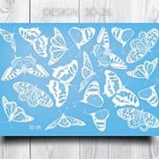 Anna Tkacheva, 3D-слайдер №26, белый «Бабочки» фото