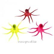 Аквадекор Осьминог на присоске, 9 х 5 х 5 см, силикон, микс цветов фото
