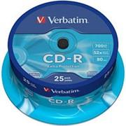 Компакт диск CD-R 700мБ Verbatim Datalife в тубе 25шт. фото