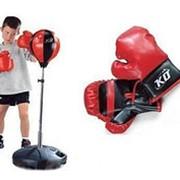 Детский боксёрский набор MS 0331. Перчатки, груша, стойка. фото