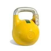 Гиря чемпионская Titan 6 кг (Желтая с зеленой полосой) фото